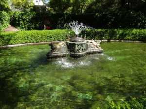 Fountain at Chandor Gardens