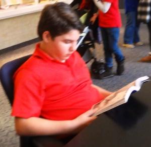 Alden enjoys reading about meteorites.