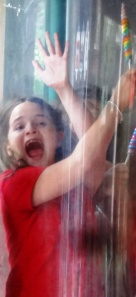 Mary Alice can get a little emotional - in a wind tunnel