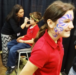 Caty and Ian were really into face painting.