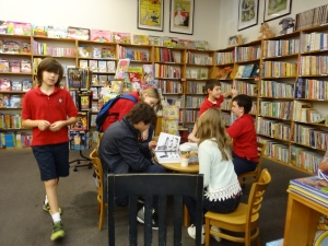 We enjoyed our time at the bookstore.