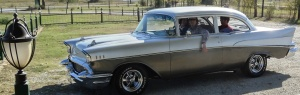 Who is that in a brand new 57 Chevy?