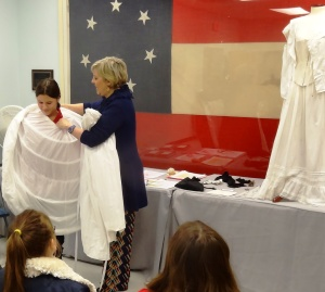 "Caty becomes a ""Southern Belle"" at the Civil War Museum."