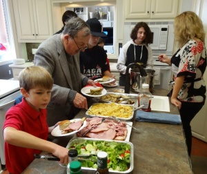 We enjoyed a Holiday lunch with David & Amy Smelley