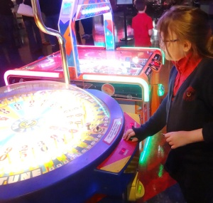 Diana enjoyed the games at Main Event.