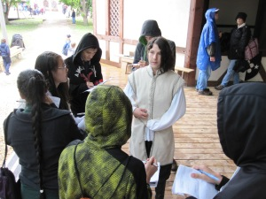 Our actors, like Natalie, were interviewed by the press.