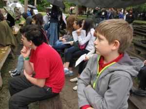 The audience, including Wyatt and Jack, were captivated.