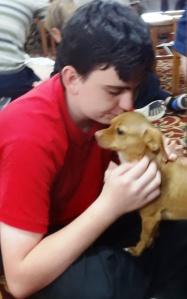 Wyatt is the dog whisperer.