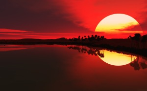 Sunset with sun