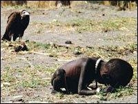 vulture watches child