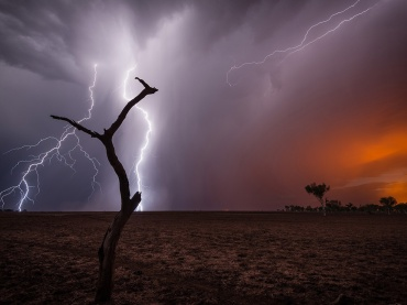 A huge thunderstorm close to Port Hedland (Western Australia) lighting bushfires everywhere. I have waited for this photo since a long time.